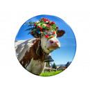 Photo magnet cow cattle drive, Ø 3.5cm