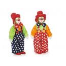 Großhandel Dekoration: Clown aus Poly mit Glitzernase, 12x8x31cm