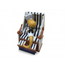 wholesale Organisers & Storage: Cotton worm in a beach chair made of poly 7x5x10cm