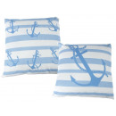 wholesale Cushions & Blankets: Pillows with anchor including filling 40x40cm