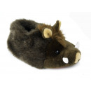 Slippers 'Boar' made of plush, Gr. L