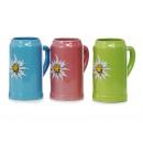 Großhandel Gläser: Bierkrug aus Porzellan, 1 Liter, 3 Farben ...