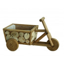 Tricycle made of wood, 36 x 18 x 20 cm