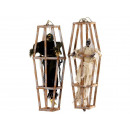Spirit of poly, hanging in wooden cage, 80 cm
