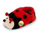 Slippers 'Ladybug' made of plush, Gr. L