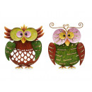 Owl made of metal, 26 cm