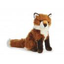 Großhandel Spielwaren: Fuchs aus Plüsch sitzend, 30 cm