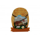 mayorista Casa y decoración: Imán barril con paisaje hecho de poli 5.5x0.5x7.5c