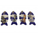 wholesale Gifts & Stationery: Magnet fish made of poly, 3x0.5x7cm