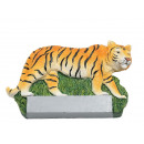 Tiger magnet made of poly 7.5x0.5x4.5cm