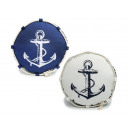 wholesale Cushions & Blankets: Pillows round with anchor, Ø 40cm