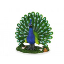 Peacock made of poly, 16 cm