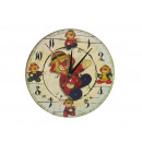 Wooden wall clock, 'Clown'. 24 cm