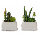 wholesale Models & Vehicles: Flowerpot bus made of ceramic with artificial plan