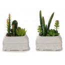 Bus per vasi di fiori in ceramica con piante artif