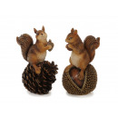 Squirrel made of poly 8x6x14cm