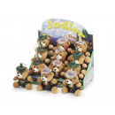 Iodel bear and hias in plush, 13 cm