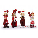 wholesale Cremes: Clown in poly, red-white, 10 cm