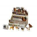 Hunde, 7 cm, verschiedene Rassen Sharpei, Bernhard
