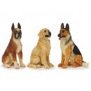 Hund aus Poly, sitzend 9 cm