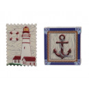Magnet with lighthouse and anchor made of poly
