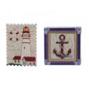 groothandel Stationery & Gifts: Magneet met vuurtoren en anker gemaakt van poly