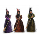 wholesale Decoration: Witch made of poly standing 63 cm