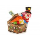wholesale Saving Boxes: Clown money box made of ceramic, 8x8x15cm
