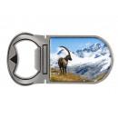 Metal magnet bottle opener Capricorn, 4x9cm