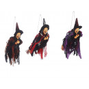 wholesale Decoration: Witch made of poly, flying, 20 cm