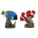 Großhandel Spielzeug: Fisch auf Riff aus Poly, 10 cm