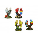 Parrot and budgerigar made of poly, 7 cm