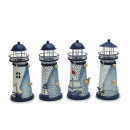 wholesale Candles & Candleholder: Lantern Lighthouse made of metal, 6.5 x 14 cm