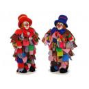 Großhandel Verkleidung & Kostüme: Lappenclown mit Polykopf, 47 cm