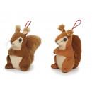 grossiste Jouets: Écureuil de peluche, 11 cm