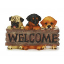 Dogs from Poly with 'Welcome' shield, 24 c
