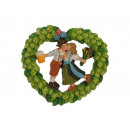 Magnet Bavarian couple in hops wreath of poly