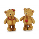 Bear from poly standing, 9 cm