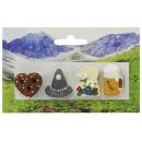 Großhandel Magnete: Magnet 4er Set 'Bayern' aus Poly, 3 cm