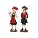 Black forest girl + boy made of poly, 14 cm