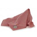 Großhandel Tücher & Schals: Halstuch rot/weiß aus Stoff, 55 x 55 cm