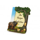 Picture frame Wild boar made of poly, 16 x 13 cm