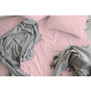 Fitted Sheet cotton satin pink 30 cm corner height