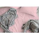 hoeslaken cotton satin roze 30 cm hoekhoogte, 90x2