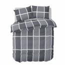 dekbedovertrek shades of grey flanel, 260x200/220