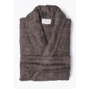 wholesale Coats & Jackets: cotton bathrobe taupe, S / M