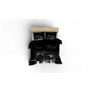 dekbedovertrek new york skyline zwart, 160x200