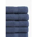 handdoek katoen 5-pack donkerblauw, 50x100