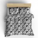 duvet cover fur mosaic gray, 160x200