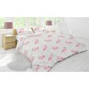 Deckbettbezug Flamingo weiß, 240X200